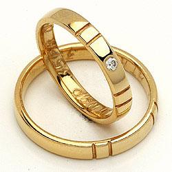 Forlovelsesringe guld fra Randers Sølv