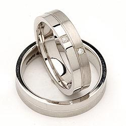 Forlovelses ringe i sølv