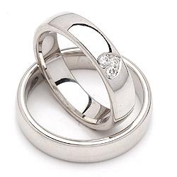 Sølv forlovelses ringe