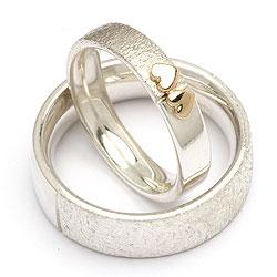 Sølv forlovelsesringe fra Randers Sølv