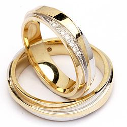 Guld forlovelses ringe