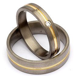 Forlovelses ringe i titanium
