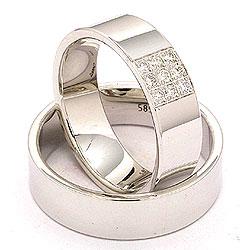 Hvidguld forlovelsesringe